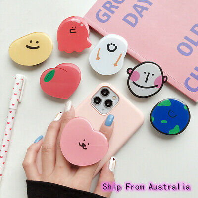 AU8.99 • Buy Universal Cute Cartoon Finger Pop Up Grip Stand Mobile Phone Holder Socket Ins