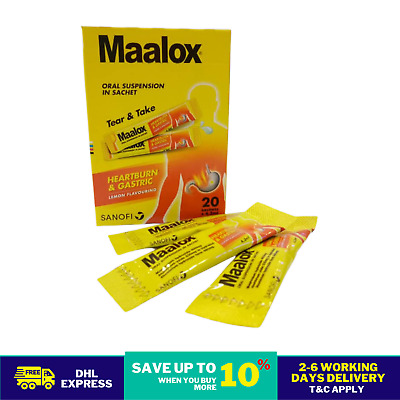 $38.80 • Buy 20'S MAALOX PLUS SIMETHICONE SUSPENSION For Relief Gastric, Stomach Wind