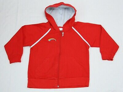 Girls Official Rainbows Uniform Hoodie Hooded Zip Up Top Size M • 10£