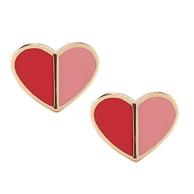 $ CDN38.26 • Buy KATE SPADE Heritage Spade Heart Stud Earrings Pink Multi