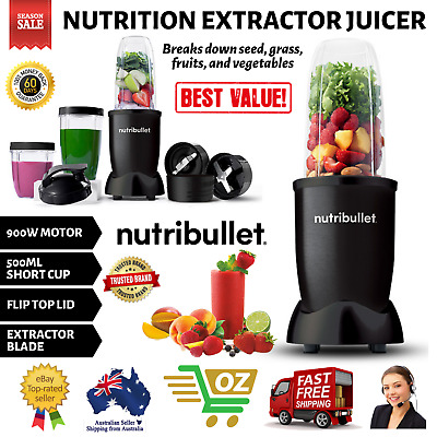 AU123.45 • Buy Nutribullet 900W Nutrition Extractor Juicer Blender Vegetable Smoothie Maker Mix