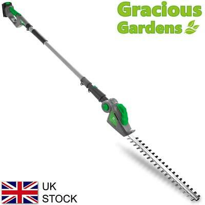£79.95 • Buy 18V Cordless Long Reach Electric Hedge Trimmer Telescopic Extendable Pole