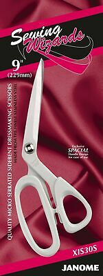 Janome Micro Serrated Sidebent Dressmaking Scissor 9  Craft Fabric Sewing XIS30S • 13.95£