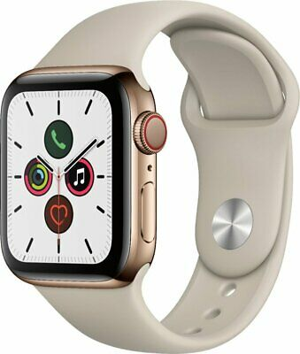 $ CDN748.40 • Buy Apple Watch Series 5 40mm Gold Stainless Steel Stone Sport Band GPS+Cellular New