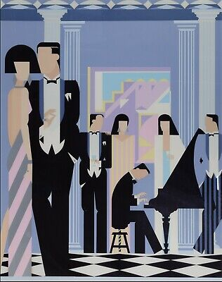 Giancarlo Impiglia 'Another Party' Artist's Proof Serigraph 23/25 1981 Signed • 795£