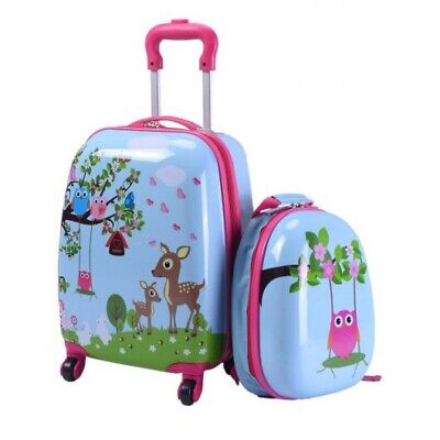 Children's Animal Print ABS Trolley Suitcase And Backpack Luggage Kids Suitcase  • 46.20£