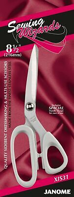 Janome Sidebent Dressmaking Scissors Multi Use 8.5  Craft Fabric Sewing - XIS31 • 9.99£