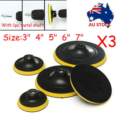 AU15.99 • Buy 3'' 4'' 5'' 6'' 7'' Backing Pad Disc Hook And Loop Sander Angle Grinder M14 AU