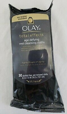 $20.21 • Buy Olay Total Effects Age Defying Cleansing - 30 Alcohol Free Cloths NIP