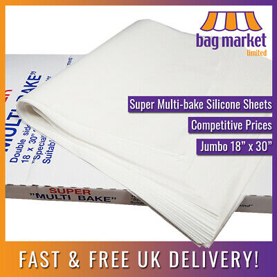 Jumbo 18  X 30  Silicone Multi-bake Grease-proof Paper Sheets | Baking/Parchment • 3.99£