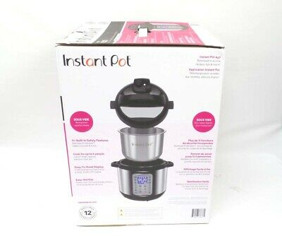 $74.99 • Buy Instant Pot 6-qt Duo Plus 9-in-1 Pressure Cooker Stainless Steel - NEW