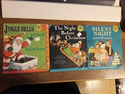 $9.99 • Buy 3 Christmas 45 & 78 Rpm Golden Records - W/ Sleeves - Nice!