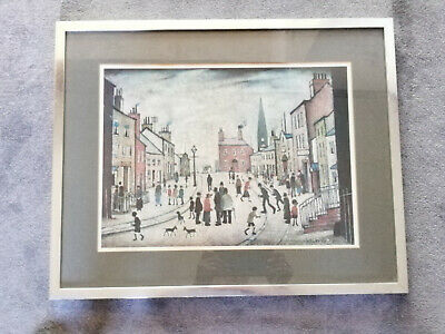 Framed Picture Ganymed Lowry Print 'A Lancashire Village' • 20£