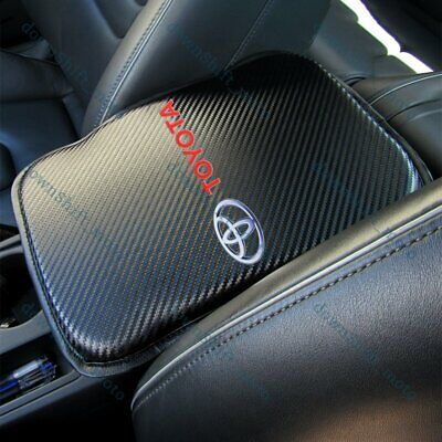 $15.99 • Buy X1 For NEW TOYOTA Carbon Fiber Car Center Console Armrest Cushion Mat Pad Cover