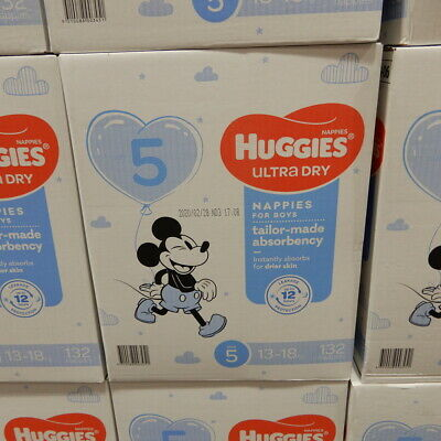 AU63.99 • Buy Huggies Nappies Size 5 Walker Boy 132 Count. 13 To 18 KG