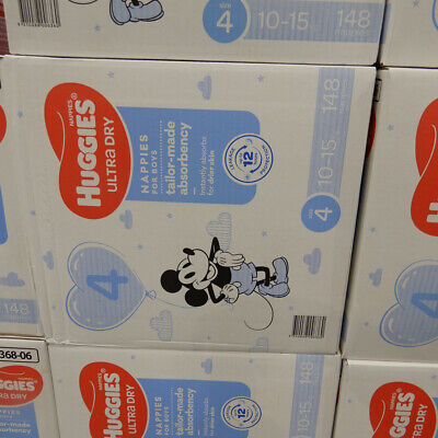 AU63.99 • Buy Huggies Nappies Size 4 Toddler Boy 148 Count. 10 To 15 KG