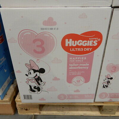 AU63.99 • Buy Huggies Nappies Size 3 Crawler Girl 184 Count
