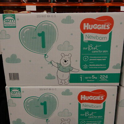 AU63.99 • Buy Huggies Ultimate Nappies Newborn 224 Count