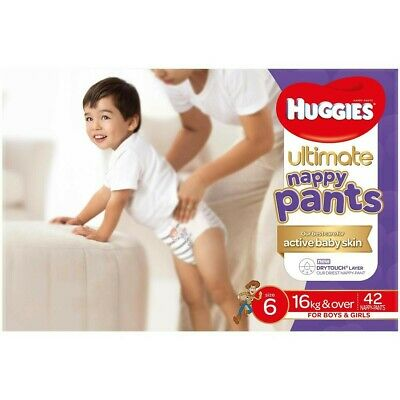 AU47.59 • Buy Huggies Ultimate Nappy Pants Size 6 - 72 Pack