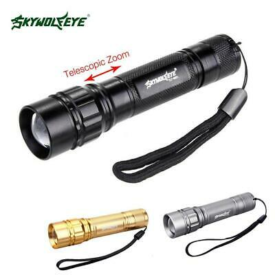 50000LM Tactical Q5 LED Flashlight Zoomable Lamp Light  3 Modes Torch  IR • 6.55£