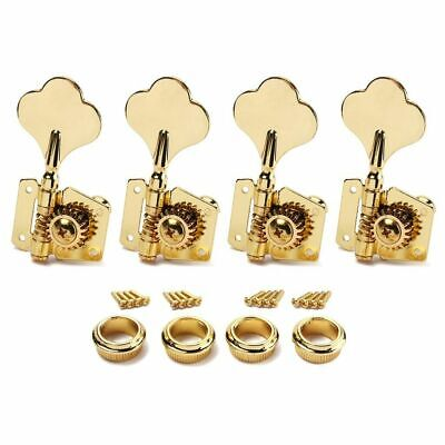 $ CDN25.25 • Buy Gold 4R Right Open Gear Inline Bass Guitar Tuners Tuning Pegs Keys Machine Heads