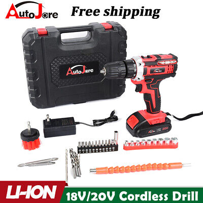 View Details 20-Volt Drill 2 Speed Electric Cordless Drill / Driver With Bits Set & Battery • 31.97$
