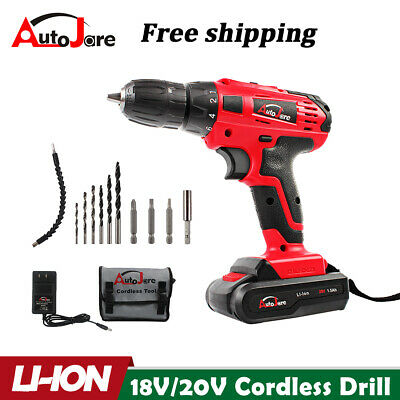 View Details 20-Volt Drill 2 Speed Electric Cordless Drill / Driver With Bits Set & Battery • 35.95$