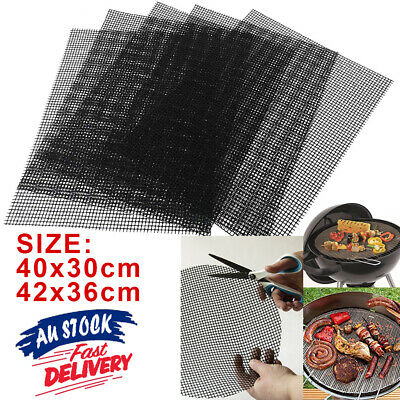AU7.95 • Buy Grill Mesh Mat  Mat Cooking Mintiml BBQ Grill Sheet Non-Stick Liner