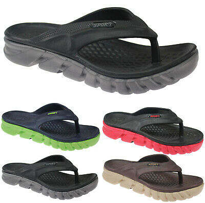 New Mens Summer Sandals Toe Post Casual Mule Beach Pool Shower Flip Flops Shoes • 6.49£