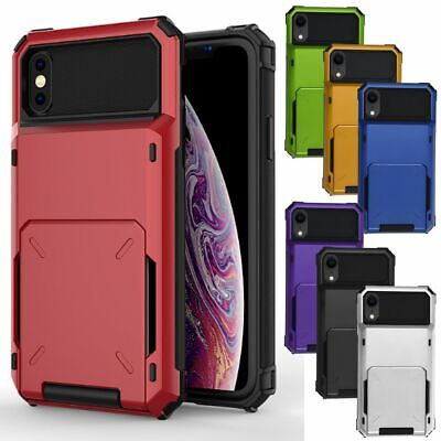 AU13.99 • Buy Shockproof Phone Case Cover For IPhone 6 7 8 Plus XS XSM XR With Card Holder New