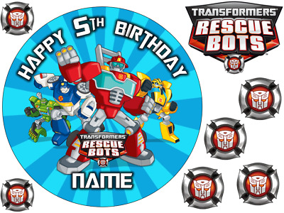 Transformers Inspired 6  To A3 Sheet Personalised Cake Edible Icing Topper • 5.99£