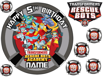 £5.99 • Buy Transformers Inspired 6  To A3 Sheet Personalised Cake Edible Icing Topper