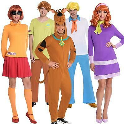 Official Adult's Scooby Doo Fred Velma Shaggy Daphne Gang Fancy Dress Costumes • 27£