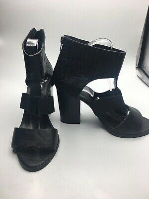£14.99 • Buy Missguided Womens Shoes High Heel Black Gladiator Style Size 6 39 Chunky