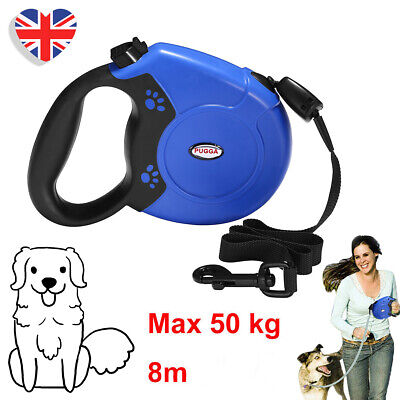 £10.29 • Buy 8M Dog Leads Retractable Long Extending Rope Cord Strong Pet Training Max 50KG