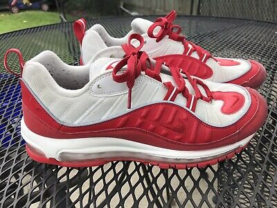 """$51.99 • Buy Nike Air Max 98 """"University Red"""" Running Shoes 640744 602 Men's Size 10.5 Used"""