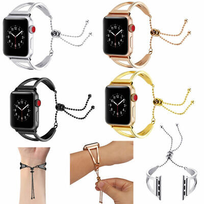 $ CDN14.30 • Buy Stainless Steel Bracelet Bangle Cuff Band For Apple Watch Series 3 2 1 38mm/42mm