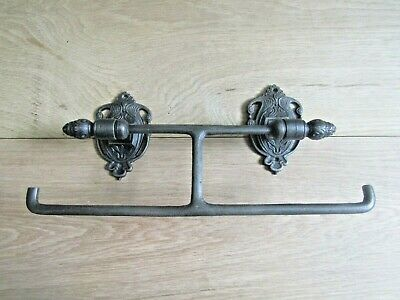 Vintage Antique Retro Traditional Industrial Chic Cast Iron Toilet Roll Holder  • 25.95£