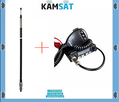 Cb Radio Kit Luiton Lt-198 Sq/asq Am/fm And Sirio Twin-log 5 Mobile Cb Antenna • 54.99£
