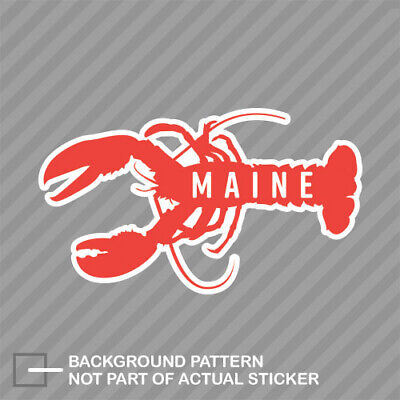 $4.99 • Buy Maine Lobster Sticker Decal Vinyl Eat Claw Me