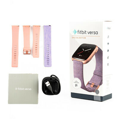 AU189 • Buy Fitbit Versa Special Edition Lavender With Extra Classic Purple Band New Sealed