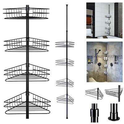 AU34.95 • Buy 4 Tier Metal Telescopic Shelf Wall Corner Bathroom Caddy Storage Bath Shower