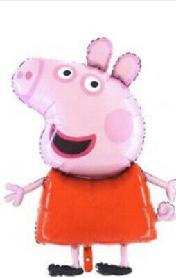 Large Peppa Pig Or George Pig Balloon.CE Marked.can Be Filled With Air Or Helium • 1.49£