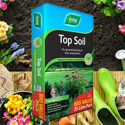 £14.35 • Buy Westland 35L Top Soil Multi Purpose For Grass Seed Lawns Planting Vegetables