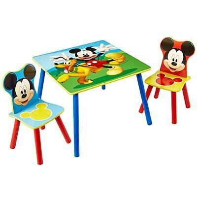 £75.28 • Buy Disney Mickey Mouse Kids Table And 2 Chair Set By HelloHome