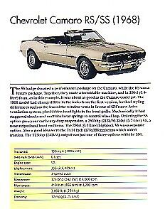 $12.80 • Buy 1968 Chevy Camaro RS/SS Convertible Article - Must See !!