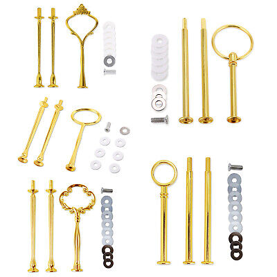£11.49 • Buy 8 Set Cake Heavy Plate Stand Handle Fittings Round Hardware Rod 2-3 Tier