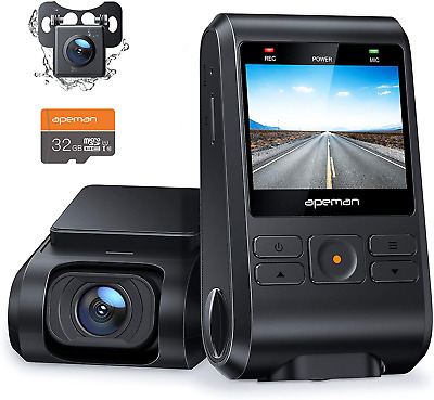AU100.48 • Buy APEMAN Dash Cam Front And Rear Camera For Cars FHD 1080P SD Card Included Sup...