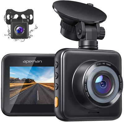 AU100.51 • Buy APEMAN Dual Dash Cam For Cars Front And Rear With Night Vision 1080P FHD Mini...