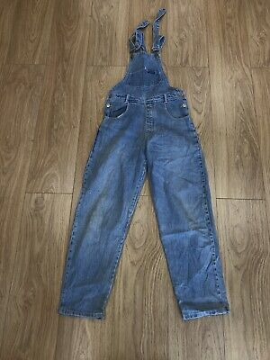 Girls Dungarees Age 9-10 Years Blue Denim D775 • 14.99£